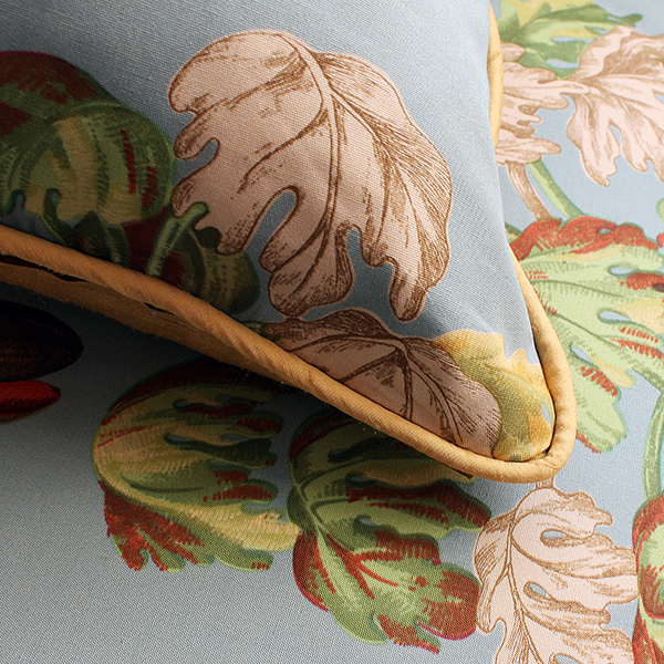Tropical Plants Limited Edition Cushion, Silk backed, By Johannah