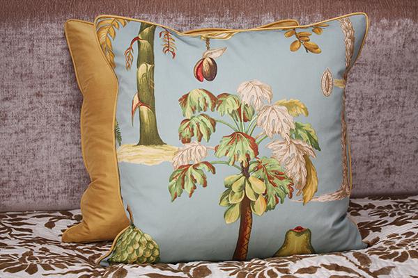 Tropical Plants Limited Edition Cushion, Silk backed, By Johannah