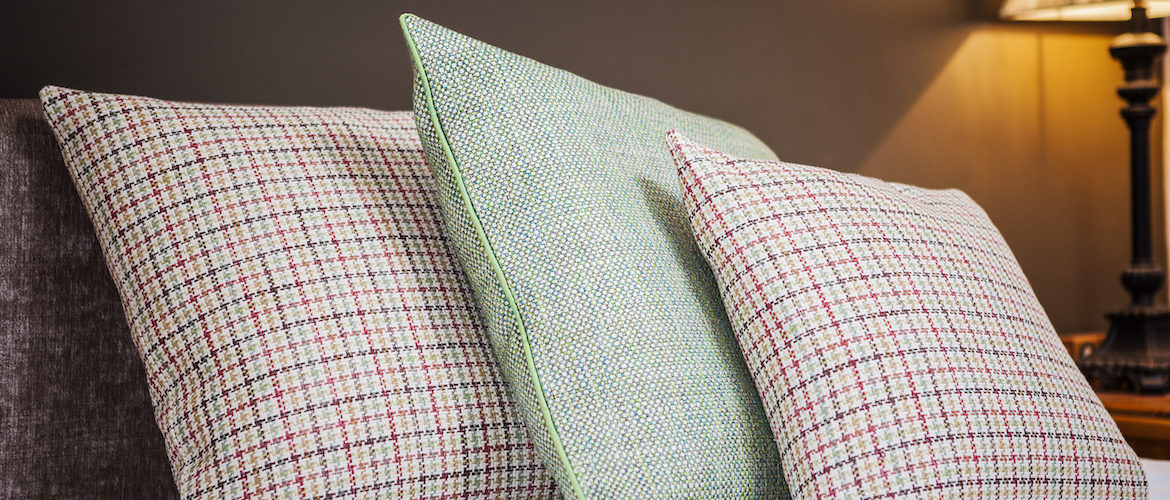 Colourful scatter cushions