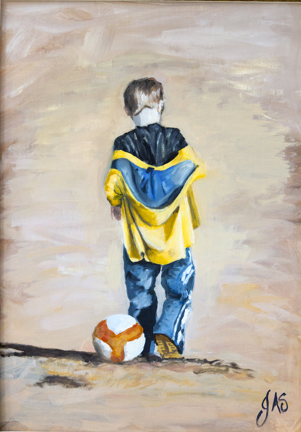 Had Enough of Football – Oil Painting By Johannah Ashton-Sykes