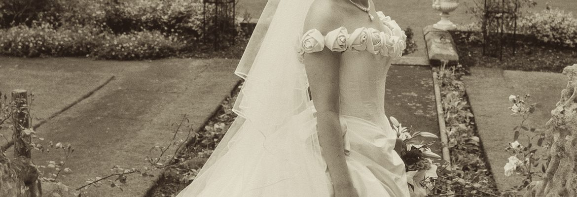 Made to measure bridal dress in black & white